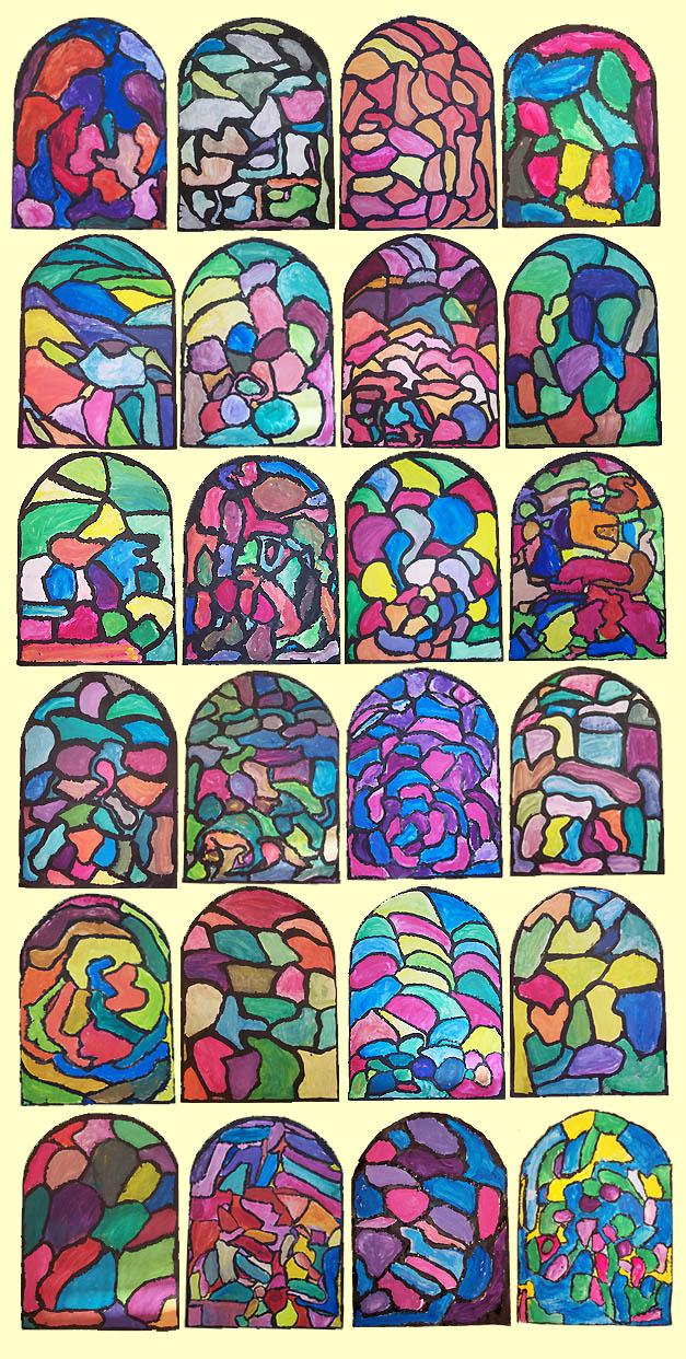 Des vitraux contemporains - Dessin vitraux ...